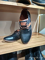 Туфли подростковые кожаные Konors на шнурках,р 39