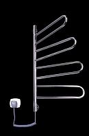 Электрический полотенцесушитель Elna Флюгер - 4 поворотный нержавеющий с терморегулятором
