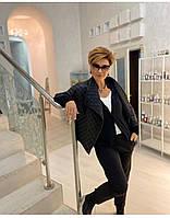 """Куртка жіноча демісезонна стильна розміри 46-56 (чорний)""""VLADA"""" купити недорого від прямого постачальника"""