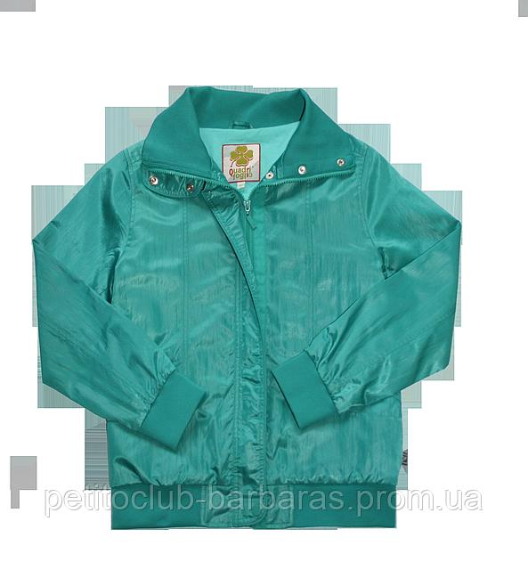Детская ветровка для девочки зеленая (р.116-152 см)(QuadriFoglio, Польша)