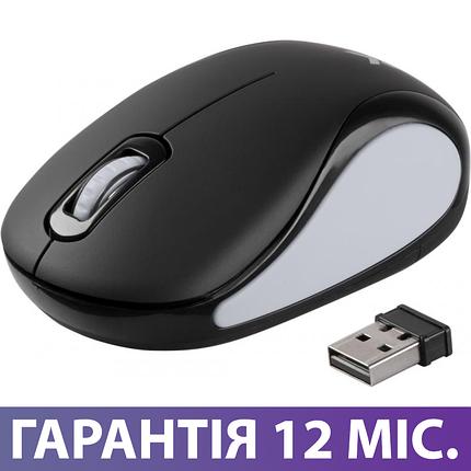 Бездротова мишка Vinga MSW-907 чорно-сіра, безпровідна миша для ноутбука, фото 2