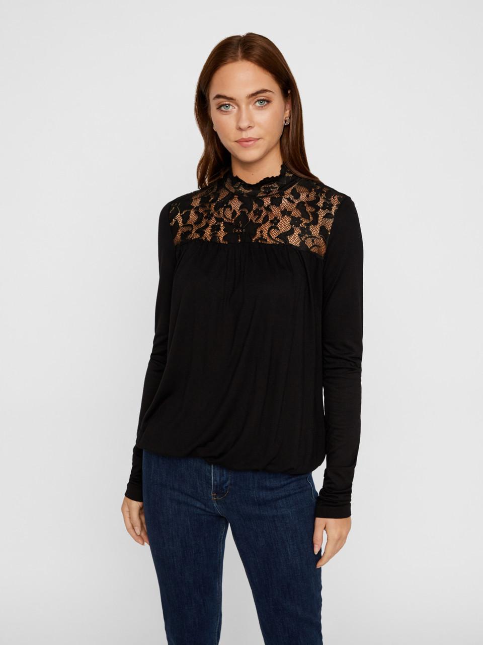 Блузка Vero Moda 10218469 S Чёрный