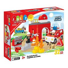 """Конструктор JDLT """"Пожежні рятувальники"""" 5151, 32 деталей"""