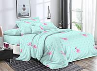 Комплект постельного белья 3Д полуторный размер Бязь Беларусь арт. Аквамарин Фламинго