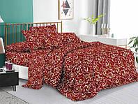 Комплект постельного белья 3Д полуторный размер Бязь Беларусь арт. Вензеля коричневые