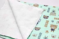 Непромокаемая пеленка детская, хлопок и махра с мембраной, двухсторонняя 100*70см