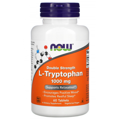 NOW Foods L-Tryptophan 1000mg 60 caps