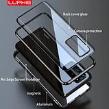 Магнитный металлический чехол FULL GLASS 360° для Huawei P40 Pro /, фото 8