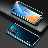 Магнитный металлический чехол FULL GLASS 360° для Huawei P40 Pro /, фото 2