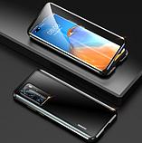 Магнитный металлический чехол FULL GLASS 360° для Huawei P40 Pro /, фото 3