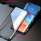 Магнитный металлический чехол FULL GLASS 360° для Huawei P40 Pro /, фото 9