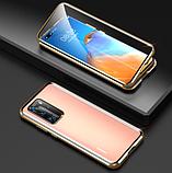 Магнитный металлический чехол FULL GLASS 360° для Huawei P40 Pro /, фото 5