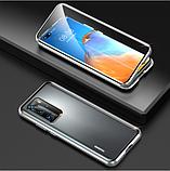 Магнитный металлический чехол FULL GLASS 360° для Huawei P40 Pro /, фото 4