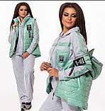 Женский трикотажный спортивный костюм тройка-4 цвета, Размеры:46-48,50-52,54-56, фото 3