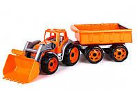 Трактор с ковшом и прицепом 3688TXK (Оранжевый)