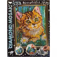 Набор для творчества Danko Toys Алмазная живопись Diamond mosaic Кот Разноцветный GSKHBIYGQ, КОД: 916341