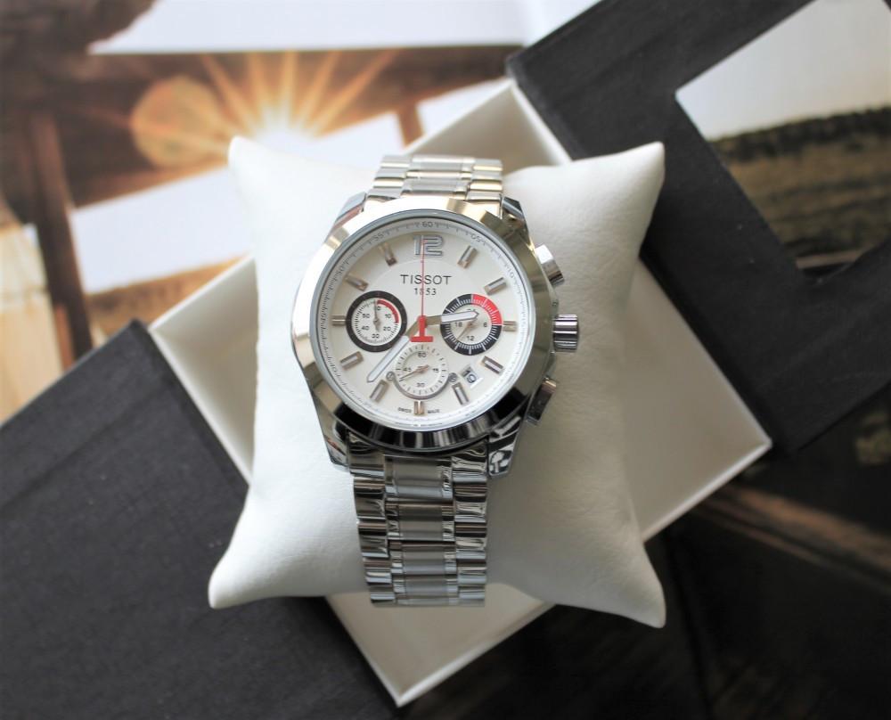 Годинник Tissot Couturier Chronograph 42 mm Silver