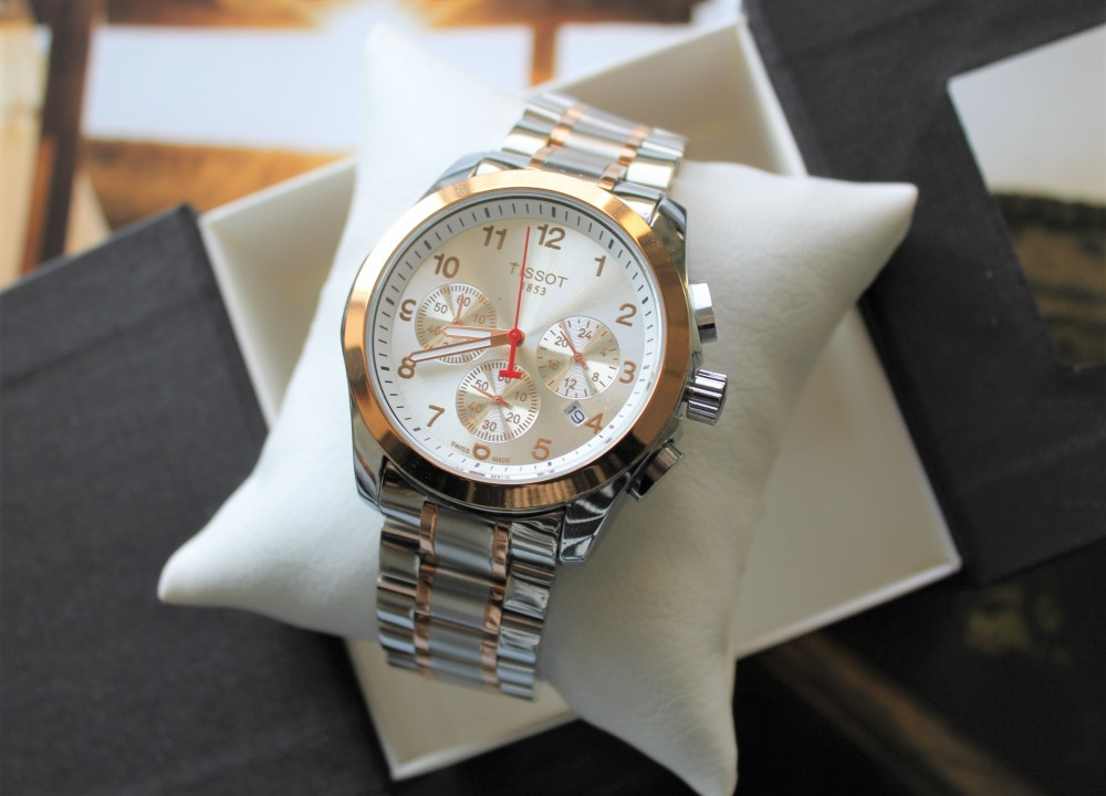 Годинник Tissot Couturier Chronograph 42 mm Silver&Gold