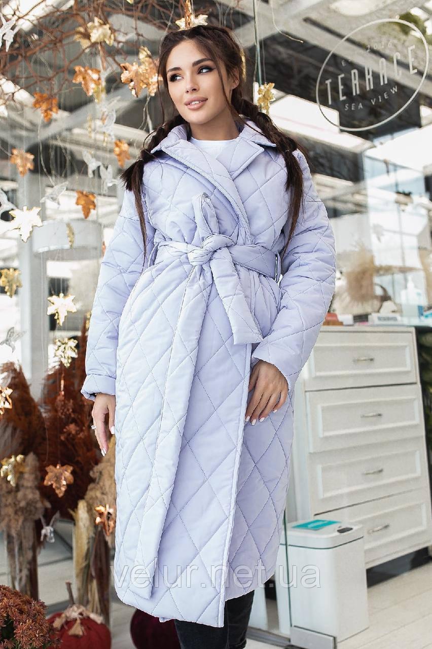 Женское стеганое пальто, про-во Украина, 2 цвета, размер: OVERSIZE 42-46, 48-52.