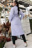 Женское стеганое пальто, про-во Украина, 2 цвета, размер: OVERSIZE 42-46, 48-52., фото 3