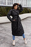 Женское стеганое пальто, про-во Украина, 2 цвета, размер: OVERSIZE 42-46, 48-52., фото 5