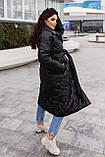 Женское стеганое пальто, про-во Украина, 2 цвета, размер: OVERSIZE 42-46, 48-52., фото 7