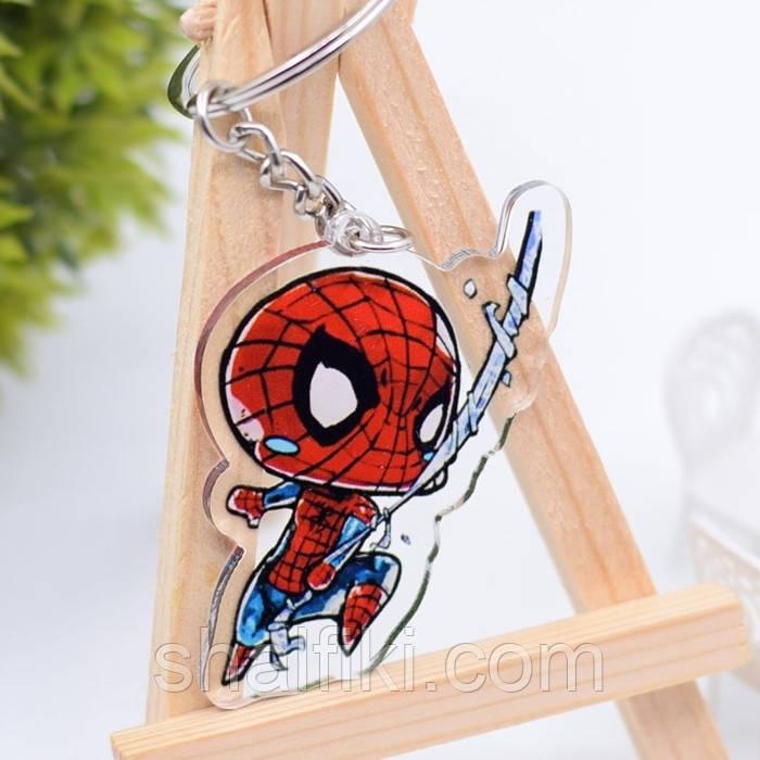 """""""Человек паук"""" брелок акриловый двухсторонний с уф-печатью"""