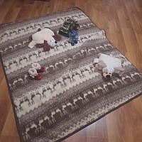 Коврик игральный (1.5 м Х 2.1 м) для малышей из овечьей шерти большой, развивающий меховой ковер из овчины