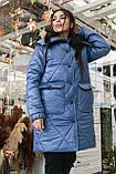 Женское зимнее пальто, про-во Украина, 2 цвета, размер: OVERSIZE 42-46, 48-52., фото 3