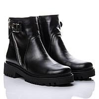 Ботинки La Rose 2148 38(24,7см) Черная кожа ( Мех ), фото 1