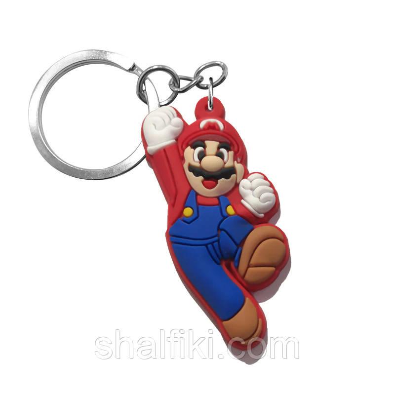 """Марио (Супербратья Марио)"" брелок резиновый односторонний"