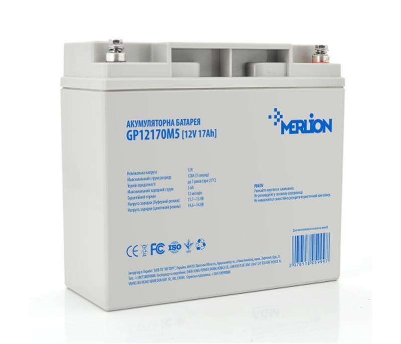 Аккумуляторная батарея Merlion 12V 17AH (GP12170M5/05999) AGM