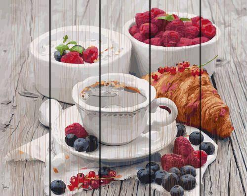 "Картина по номерам на дереве ""Ароматный завтрак"" GXT5509, фото 2"