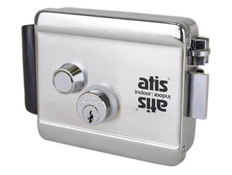 Электромеханический замок ATIS Lock Ch 5 ключей открытие кнопкой, ключом, импульсом тока 12В