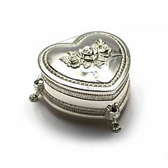 Шкатулка для украшений Сердечко Серебро 47104, КОД: 1366596