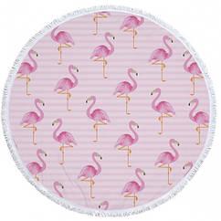 Пляжный коврик Tender Flamingo Разноцветный kj123287, КОД: 1533181