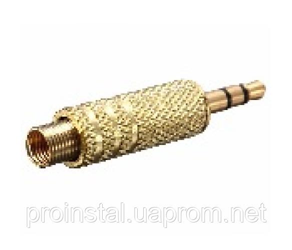 Разъем 3,5 GOLD стерео под кабель