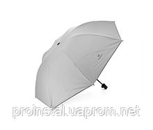 Полуавтоматический зонт, D-96см, защита от солнца, UV (99%), защита от дождя, каркас - Al+Fe, Gray