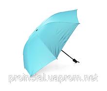 Полуавтоматический зонт, D-96см, защита от солнца, UV (99%), защита от дождя, каркас - Al+Fe, Blue