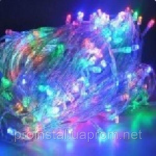 Гирлянды 300LED (Диод) Red / Green / Blue / Yellow, 8 режимов, 16метров, прозрачная изоляция, BOX