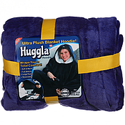 Толстовка плед з капюшоном Huggle Hoodie темно-синій