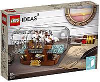 Лего идеас Lego Ideas Корабль в бутылке 92177