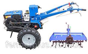 Мотоблок Кентавр MБ-1012ДE + почвофреза (12 л.с., электростартер)
