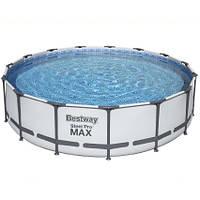 Bestway Каркасный бассейн Bestway 56488 (457х107 см) с картриджным фильтром, тентом и лестницей