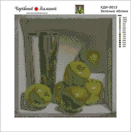 КДІ-0015 Набір алмазної вишивки Зелені яблука. Художник Denise Mickilowski, фото 2