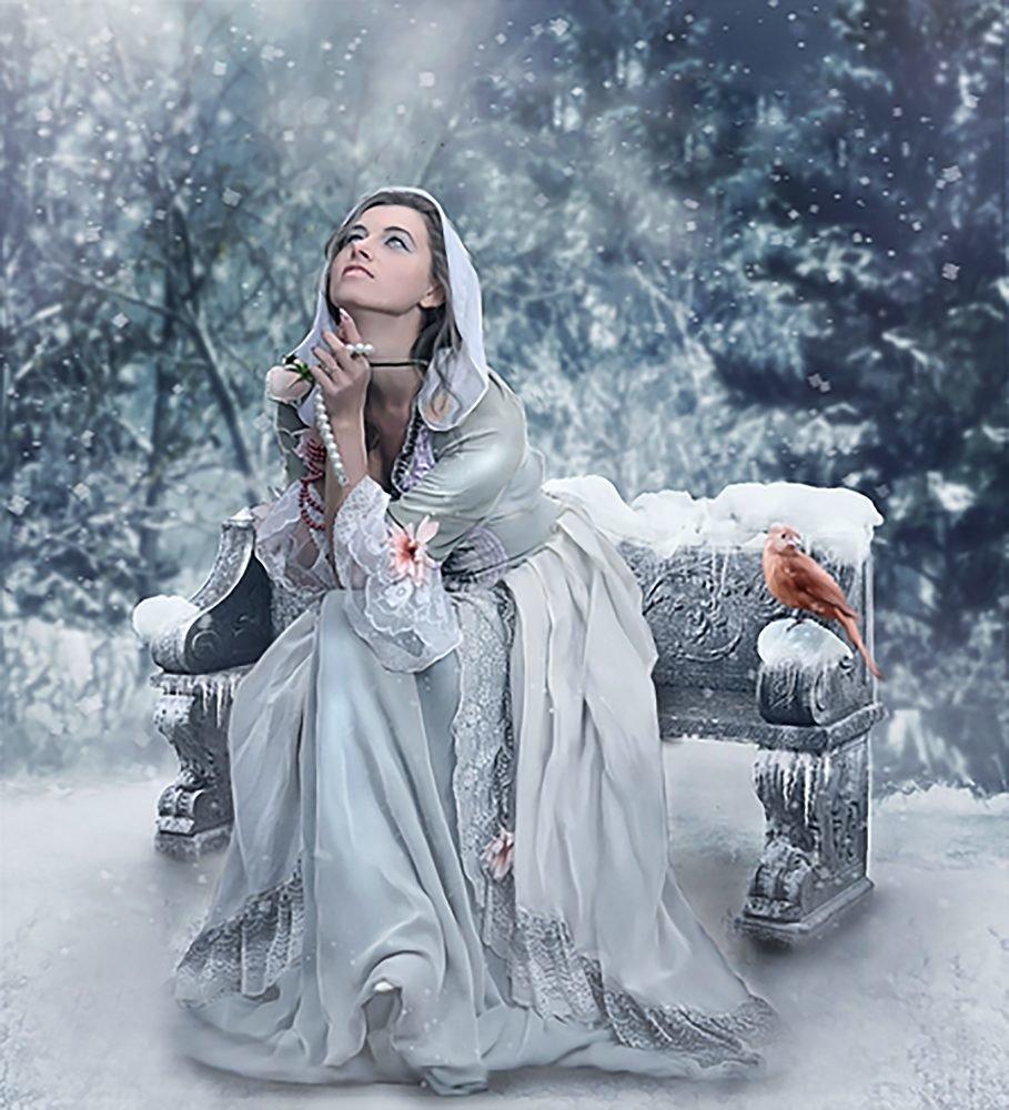 КДИ-0540 Набор алмазной вышивки Мольба. Художник Michael Parkes