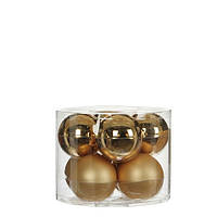 """Елочные шарики 8 шт., """"House of Seasons"""" комплект, цвет золотой, фото 1"""
