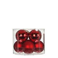 """Елочные шарики 8 шт., """"House of Seasons"""" комплект, цвет красный, фото 1"""
