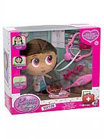 """Игровой набор """"Кукла доктор"""" с медицинскими инструментами (Розовый) шарнирная"""