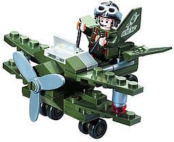 """Конструктор """"Военный самолёт"""" 50 деталей Brick-804, фото 3"""